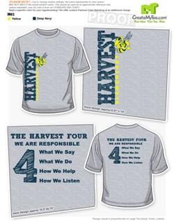 12131 harvest adult tshirt_55825jpg - School T Shirt Design Ideas