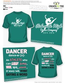High school t shirt apparel designs createmytee for College dance team shirts