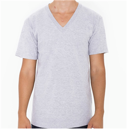 American Apparel Fine Jersey V-Neck T-Shirt (2456w)