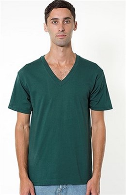American Apparel Fine Jersey V-Neck T-Shirt (2456)