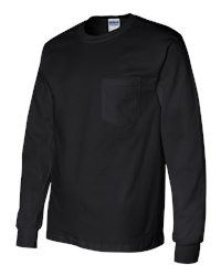 Gildan Ultra Cotton Long-Sleeve Pocket T-Shirt