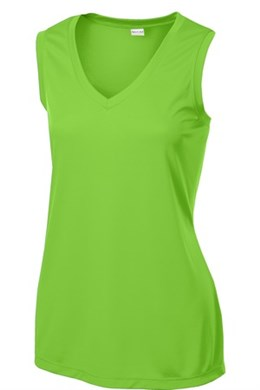 Sport-Tek Ladies' Competitor V-Neck Sleeveless T-Shirt (LST352)