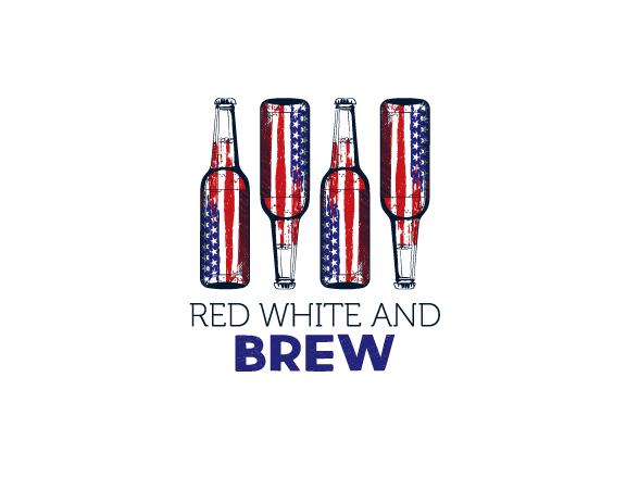 Red, White & Brew Custom T-Shirt Design
