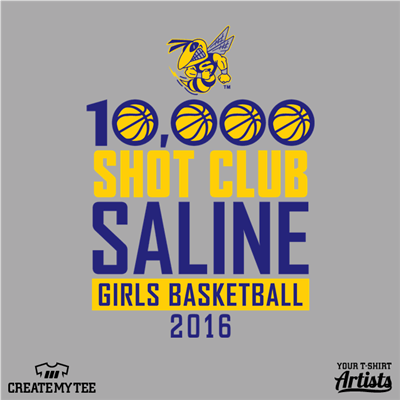 Shot Club Saline, Saline High School, Girls Basketball, Hornet Mascot, 2016