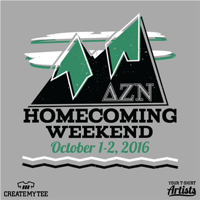 delta zeta nu, homecoming, 2016, mountains