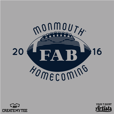 Monmouth Homecoming 2016 (Back) Fab, football, Gamma Alpha Beta