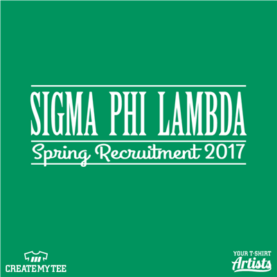 Sigma Phi Lambda, Spring Recruitment