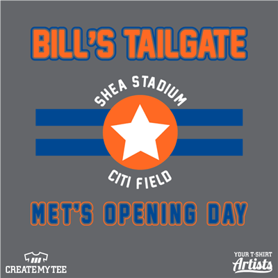 Bill's Tailgate, tailgating, Mets opening day
