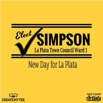 Elect Simpson, La Plata Town Council Ward 1