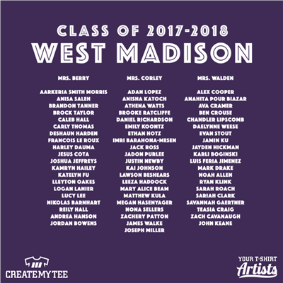 West Madison Class of 2017-18