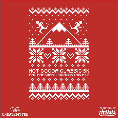 Hot Cocoa Classic 5K and Marshmallow Mountain Mile, Epic Races, Faux Ugly Sweater Design