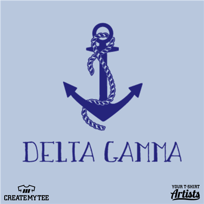 "Delta Gamma, Anchor, 4"" wide"