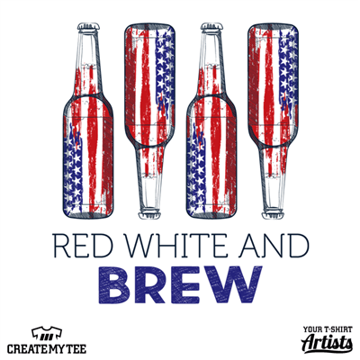 Red White Brew, Red White and Brew, Beer, 4th of July, America, Merica