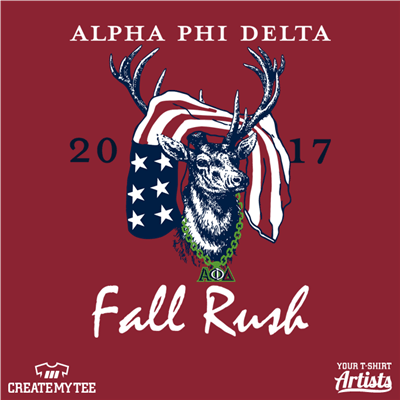 Alpha Phi Delta, Rush, Fall, Deer, Flag