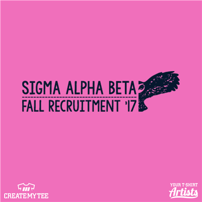 Sigma Alpha Beta, Fall Recruitment, Owl, Flock