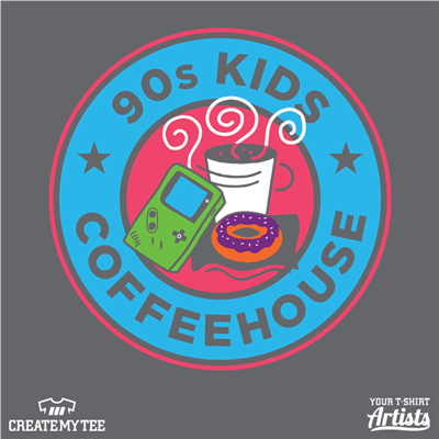 Coffeehouse, 90s Kid, Game Boy, Coffee