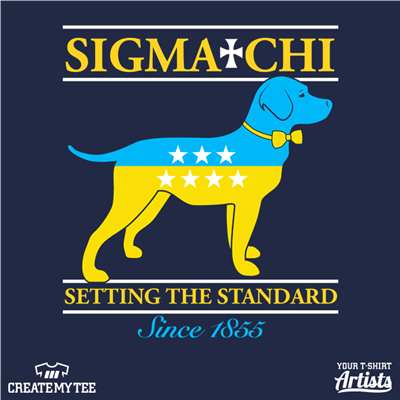 Sigma Chi, Rush Spring 2017, Dog, Setting the Standard, Since 1855