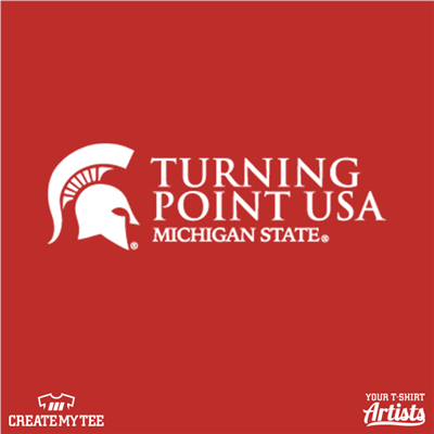 MSU, Michigan State University, Spartan Helmet, Turning Point USA