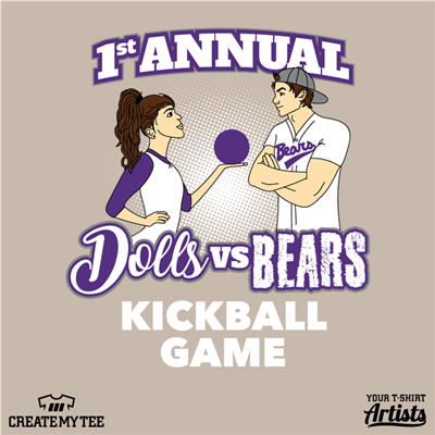 Dolls Vs Bears Kickball, UCA Baseball
