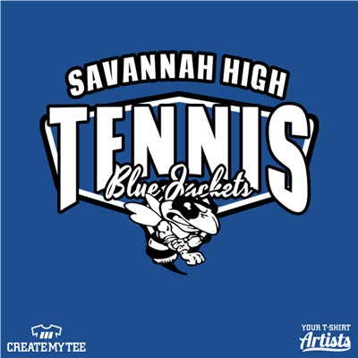 Savannah High Tennis, Blue Jackets, Angry Wasp/Bee