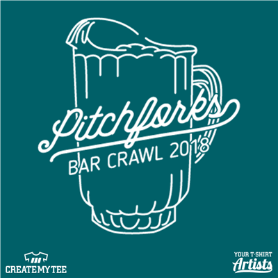 Pitchforks Bar Crawl 2018, Beer pitcher