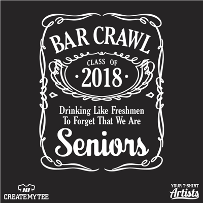Jack Daniels Bar Crawl Class of 2018