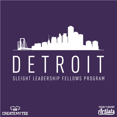 Detroit, Detroit skyline, Sleight leadership fellows program