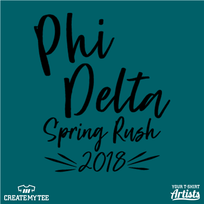 Phi Delta, Spring Rush, Greek