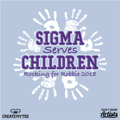 Sigma, Serves, Children, Hand, Prints, Rocking for Robbie