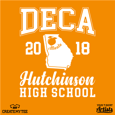 Hutchinson, High School, DECA, Atlanta, Georgia, Peach, School