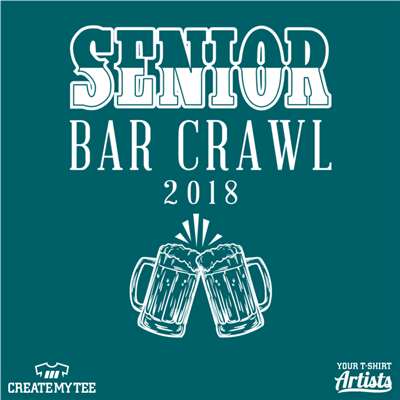 Senior, Bar Crawl, Beer, Alcohol
