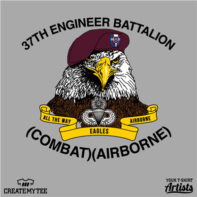 37th Engineer Battalion, Combat, Airborne, Military, Eagle, Beret, Air Force, Flight