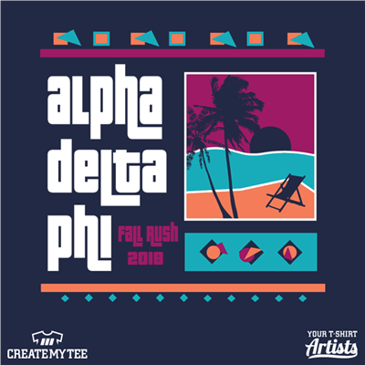 ADP, Alpha Delta Phi, Fall Rush, 2018, Grand Theft Auto, GTA, Palm Tree, Miami
