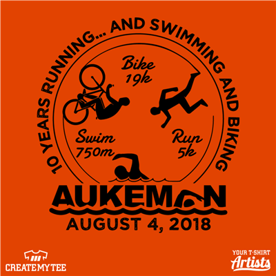 Aukeman, 2018, Bike, Swim, Run, Triathlon