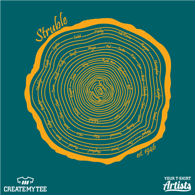 Struble, Family Reunion, Family, Reunion, Tree Trunk, Tree, Rings