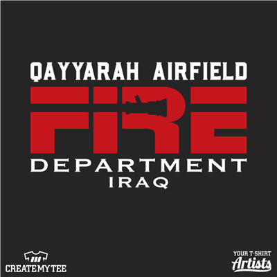 Fire Department, Fire, Firefighter, Iraq, Qayyrah Airfield