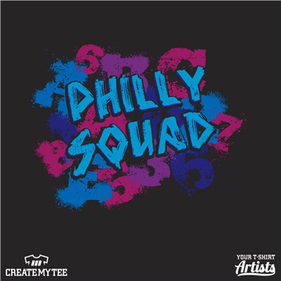 Philly, Squad, Philly Squad, Splatter, Alphabet