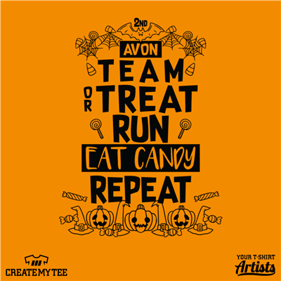 Trick or Treat, Eat Candy, Halloween, Avon, Run
