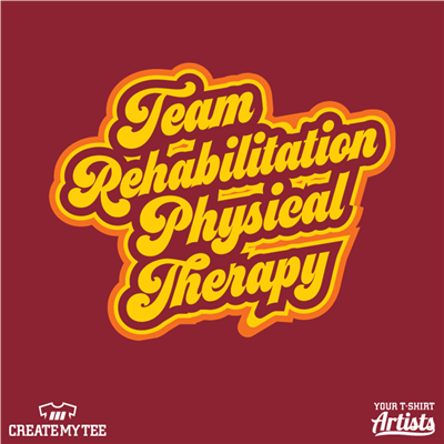 Team Rehab, Groovy, 1970, 70s, Physical Therapy