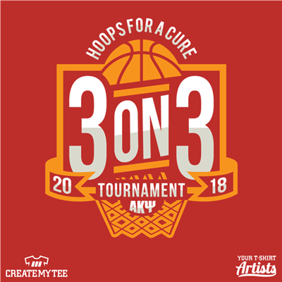 3-on-3, Basketball, Tournament, Hoops For a Cure, Hoops, 2018