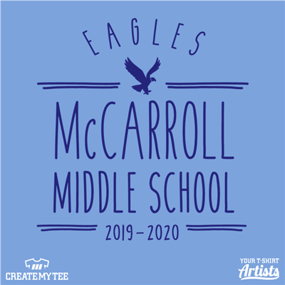 McCarroll ,Middle School, Eagles, School