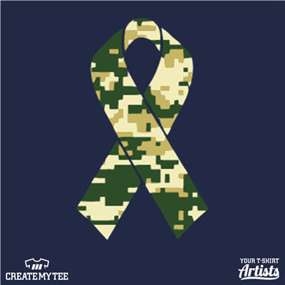 Henrico Fire, Service Appreciation, Camo, Ribbon, Digital Camo