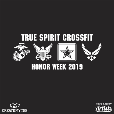 True Spirit Crossfit, Honor Week, 2019, Military