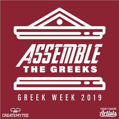 Assemble the Greeks, Greek Week, Greek Temple, Avengers