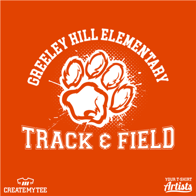 Greeley Hill Elementary, Track & Field, Paw, Paw Print