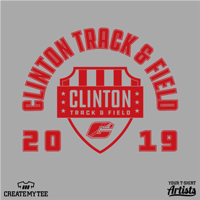 Clinton Track and Field Badge, Clinton, Track and Field, 2019
