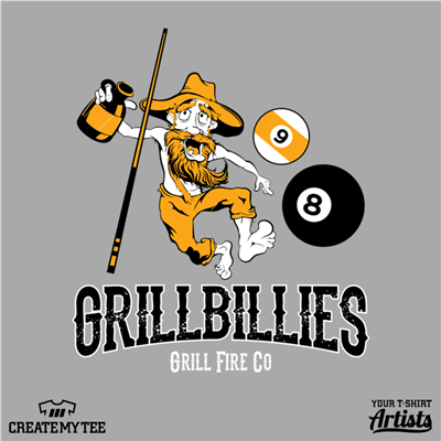 Grillbillies, Pool, Team, Billiards, 8 Ball, Grill Fire Co