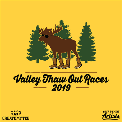 Valley Thaw Out Races, 2019, Moose, Trees, Race, Road Race