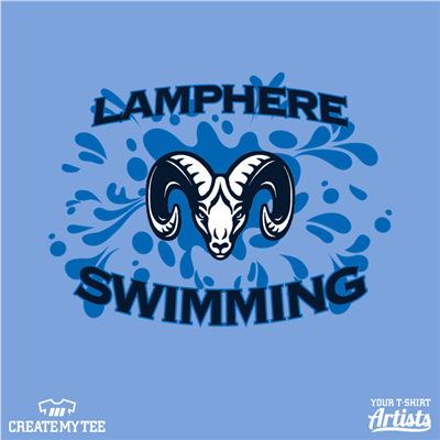 Lamphere Swim, Swim, Ram, Water, Splash, School, Organization, Club, Sport