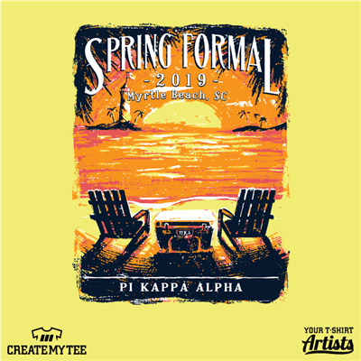 UNCW, Pi Kappa Alpha, Greek, Spring Formal, Beach, Tropical, Cooler